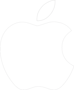 Apple logo white md